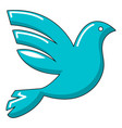 white peace pigeon icon cartoon style vector image vector image