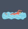 woman swimming in pool smiling vector image vector image
