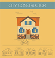 Building exteriors graphic template Outline and vector image