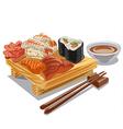 japan sea food vector image