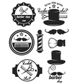 Set logos labels badges abarber shop vector image
