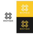 abstract logo with line ornament luxury boutique vector image vector image