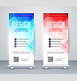 abstract style business roll up banner template vector image vector image