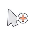 add arrow cursor mouse pointer icon vector image vector image