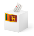 Ballot box with voting paper Sri Lanka vector image