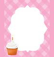 birthday card template for girls vector image vector image