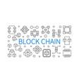 block chain concept outline horizontal vector image