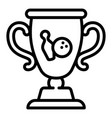 Bowling gold cup icon outline style
