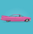 cartoon styled pink car vector image