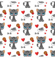 cat and mouse cute kitty pet cartoon cute animal vector image vector image