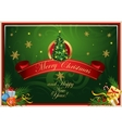 Classic Christmas card vector image vector image