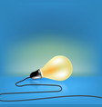 concept design single light bulb with cord vector image