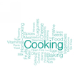 Cooking Tag cloud vector image