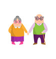 couple senior woman and man love eternity for vector image