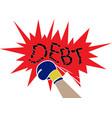 debt relief concept vector image vector image