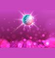 disco ball disco ball pink background vector image vector image
