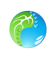 eco footprint in tai chi form vector image vector image