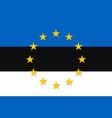 estonia national flag with a star circle of eu vector image vector image