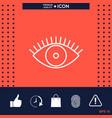 eye icon - line concept vector image vector image