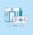 financial technology design vector image vector image