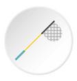 fishing net icon circle vector image vector image