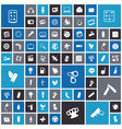 flat design icons for technology and energy vector image