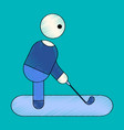 flat shading style icon stick figure golf vector image