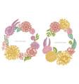floral wreath pastel poppy flower gerbera vector image