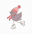 funny bird nursery art vector image