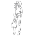 girl in jeans vector image vector image