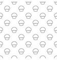 glaze cupcake pattern seamless vector image vector image