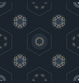 gold silver mandala and chain hexagon seamless vector image vector image