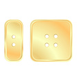 golden square and rectangular button sewing vector image vector image