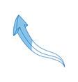 graffiti arrow abstract design creative icon vector image vector image