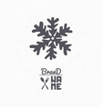 hand drawn silhouette of snowflake vector image vector image
