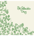happy st patricks day natural poster vector image vector image
