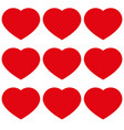 hearts with love icon vector image vector image