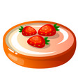 icon decorative cake with vector image vector image
