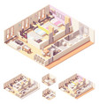 isometric dormitory or dorm room vector image vector image