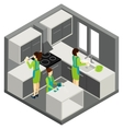KItchen Cleaning Household Help Isometric vector image vector image