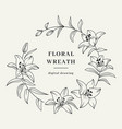 lily flower wreath floral wreath flowers vector image