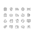 Line Shopping Icons vector image vector image