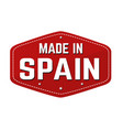 made in spain label or sticker vector image vector image