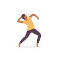 man dancer afro vector image vector image