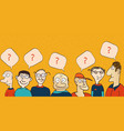 men have a question hand drawn vector image vector image