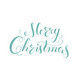 merry christmas calligraphy lettering template vector image