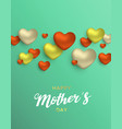 mothers day card of heart decoration for mom love vector image vector image