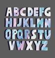 multicolored marble letters vector image vector image