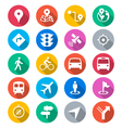 Navigation flat color icons vector image vector image