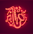 neon label music jazz banner vector image